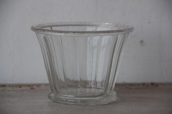 フランスアンティーク ガラスのコンフィチュールポット B