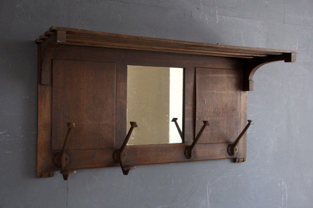 フランスアンティーク  木製ウォールシェルフ(壁掛け棚、吊り棚)