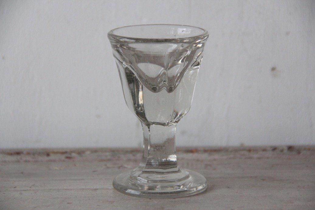 フランスアンティーク  吹きガラスのリキュールグラス