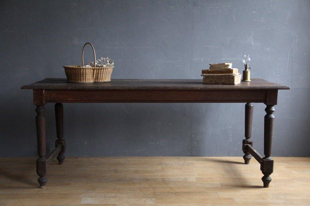 フランスアンティーク 木製ダイニングテーブル A