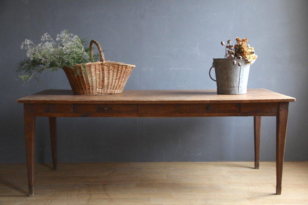 フランスアンティーク 木製ダイニングテーブル C