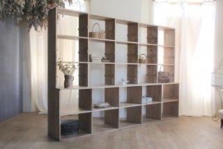 フランスアンティーク 大きな木製棚