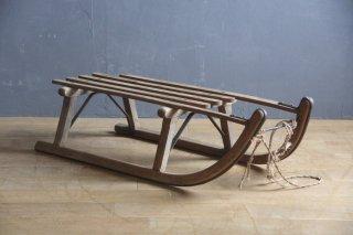 フランスアンティーク 木製のソリ