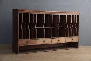 フランスアンティーク 木製の書類棚