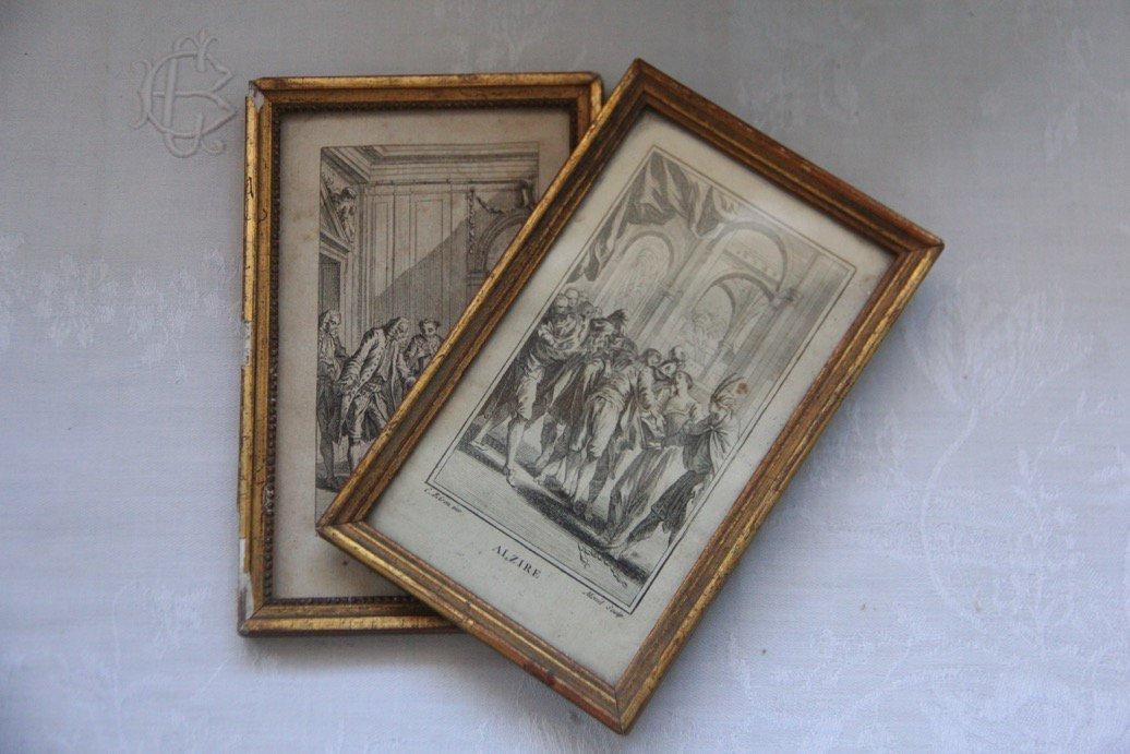 フランスアンティーク 木製 ピクチャーフレームC /  ガラス無し