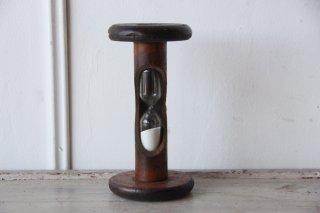 フランスアンティーク  木製 砂時計  /  4分4秒 & 3分40秒 オブジェ