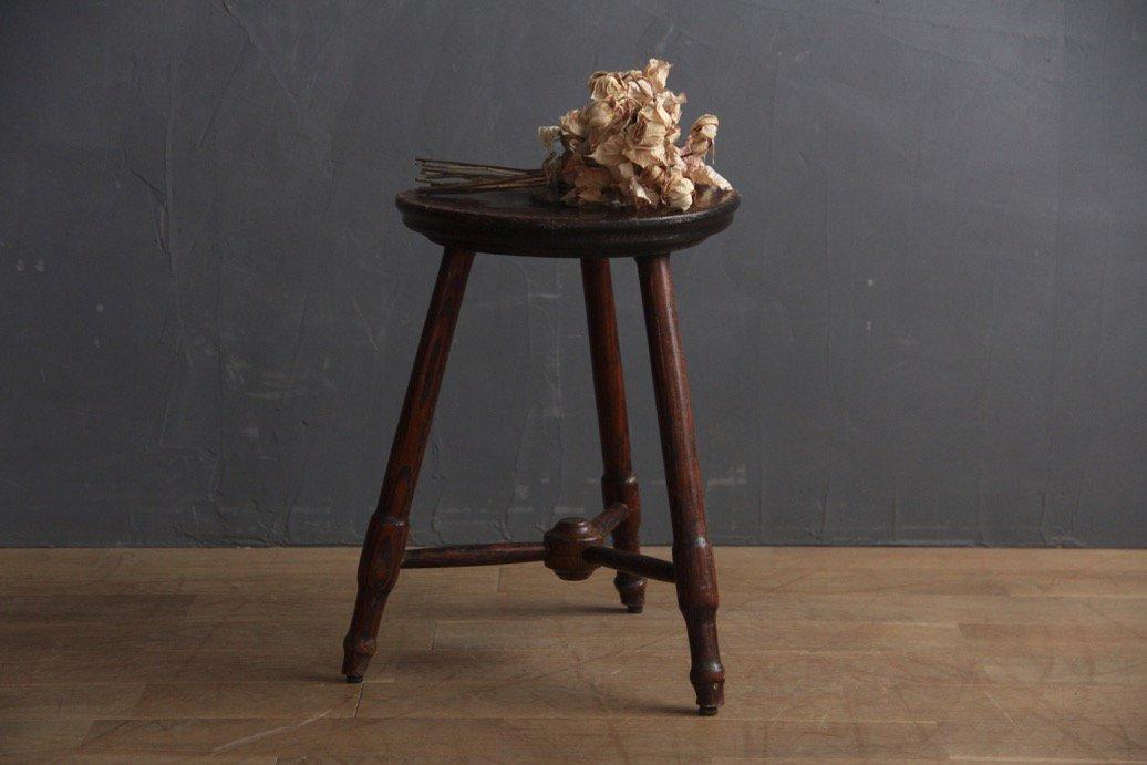 フランスアンティーク 木製スツール A