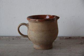 アンティーク 陶器の小さなピシェ
