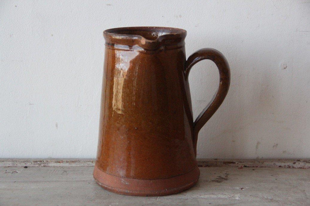 アンティーク  陶器のピシェ