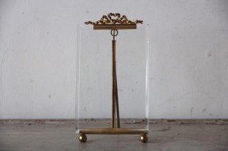 フランスアンティーク リボン装飾 金縁 ガラスフレーム 中