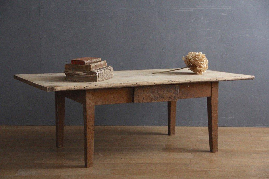 フランスアンティーク 木製ローテーブル
