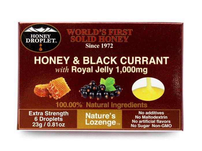 ハニードロップレット ブラックカラント カシス果汁 ローヤルゼリー はちみつ のど飴