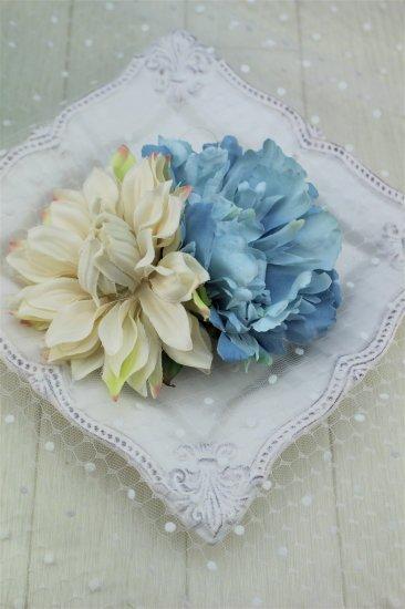 (HD017) スカイブルー×ホワイトヘッドドレス