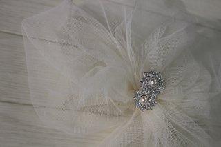(HD013) ホワイトチュールヘッドドレス