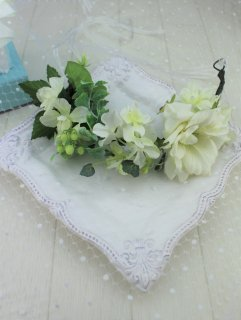 (HD018) グリーン×ホワイト花冠