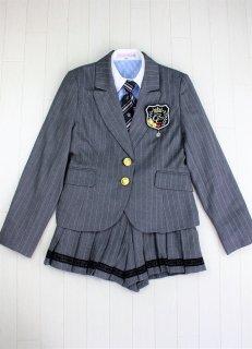 (GF042) グレージャケット キュロットスカート スーツ