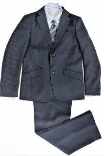 (BF143) ブラックスーツ ストライプシャツ