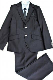 (BF023) ブラックスーツ 水色シャツ ドットタイ