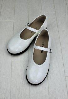 (SH003) ホワイト シンプルストラップシューズ
