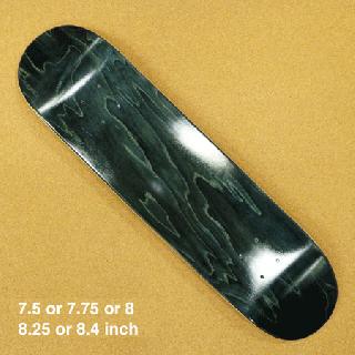 ブランクデッキ(SUPER HARD) ブラック7.5 or 7.75 or 8 or 8.25 or 8.4インチ
