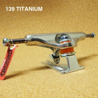 INDEPENDENT TRUCK FORGED TITANIUM 139  SILVER