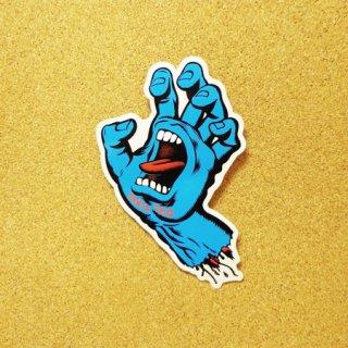 SANTA CRUZ  ステッカー SCREAMING HAND 6インチ BLUE
