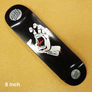 SANTA CRUZ  デッキ SCREAMING HAND BLACK 8インチ