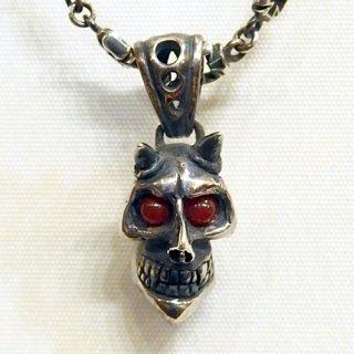 ペンダントトップ -devil skull pendant top-