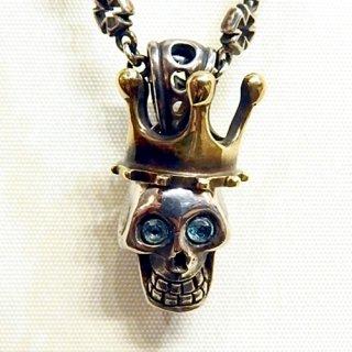 ペンダントトップ -laugh skull pendant top 石入り-