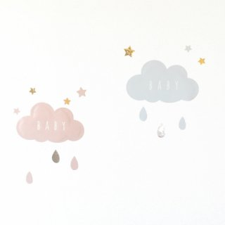 baby_cloud 雲のウォールステッカー