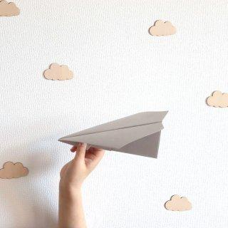 木で作ったウォールステッカー 雲
