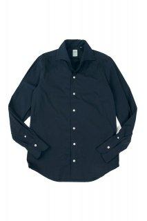 Finamore (フィナモレ) ストレッチコットン ワンピースカラー シャツ NAVY (ネイビー・11)