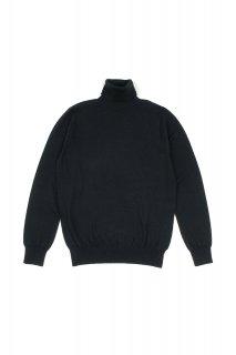 cuervo bopoha(クエルボ ヴァローナ) John (ジョン) ウール タートルネック セーター BLACK (ブラック)