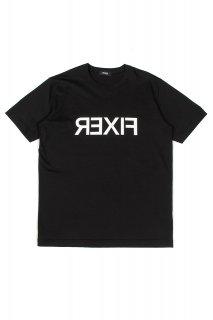 【ご予約】FIXER (フィクサー) FTS-03 Reverse Print Crew Neck T-shirt リバースプリント Tシャツ BLACK (ブラック)