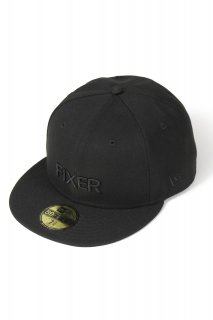 【ご予約】FIXER × NEW ERA (フィクサー × ニューエラ) FNE-01 ベースボールキャップ ALL BLACK (オールブラック)