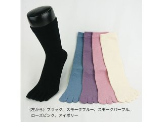EMソックス 婦人オールシーズン(5本指) 22-24cm