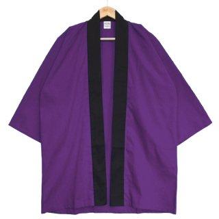 [東京法被 / 帯セット]綿無地はっぴ(法被)- 紫 -Purple- Cotton Plain Happi