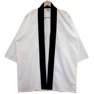 [東京法被 / 帯セット]綿無地はっぴ(法被)- 白 -White- Cotton Plain Happi