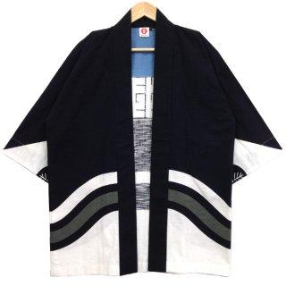 [Happi.Tokyo]染はっぴ(法被)ポケット付き-染2C-