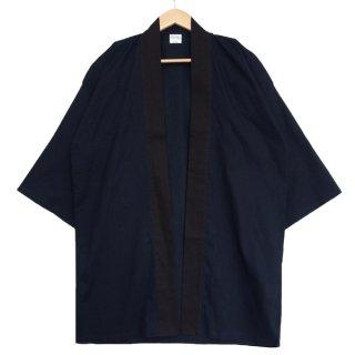 [東京法被 / 帯セット]綿無地はっぴ(法被)- 紺色 -Navy- Cotton Plain Happi