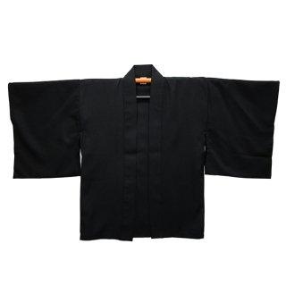 [Happi.Tokyo]羽織/はおり(角袖 / かくそで)-無地-ブラック-Black-