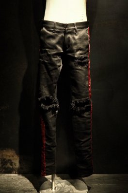【完全受注生産】RESURRECTION Collaboration Velvet line Crash Pants【オーダー商品】