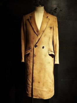 RESURRECTION Collaboration Burnered Melton Semi double Long Coat