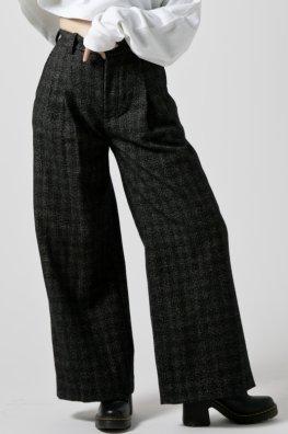England Tweed Tailored Wide Pants
