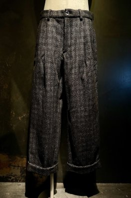 England Tweed Tailored Wide Pants With Silver925