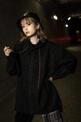 <img class='new_mark_img1' src='https://img.shop-pro.jp/img/new/icons5.gif' style='border:none;display:inline;margin:0px;padding:0px;width:auto;' />Brilliant Fancy Tweed Fooded Shirts