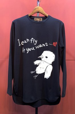 <img class='new_mark_img1' src='https://img.shop-pro.jp/img/new/icons5.gif' style='border:none;display:inline;margin:0px;padding:0px;width:auto;' />Ponte Rome Strech Long Sleeve Tee  「Immature love」