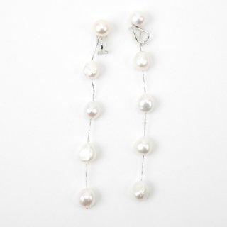 5ドロップロングパール <White> イヤリングタイプ | 5 Drop Long Pearl Earrings-White