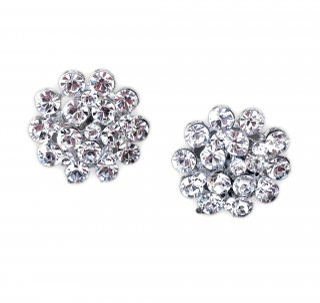 ピンポンマム スワロフスキークリスタルピアス | Mum Flower Swarovski Crystal Earrings|ピアス or イヤリング