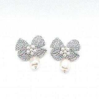 リュバンドゥ パールピアス | RUBAN DE Pearl and Crystal Earrings|ピアス